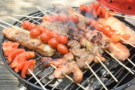 skewer barbecue Stockfoto - 131980575