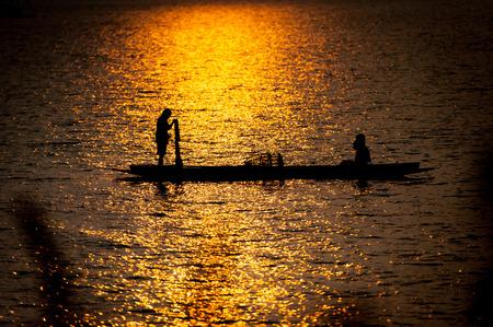 boatman: Fishermen Life along the Mekong River in Thailand