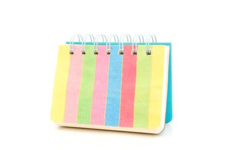 open notebook: An open spiral bound notebook color full
