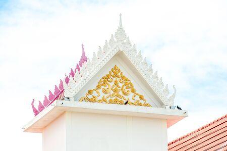 buddhist temple roof: Buddhist temple roof in Thailand.