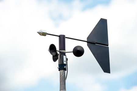 meteorological: Anemometers  for measuring wind speed Stock Photo