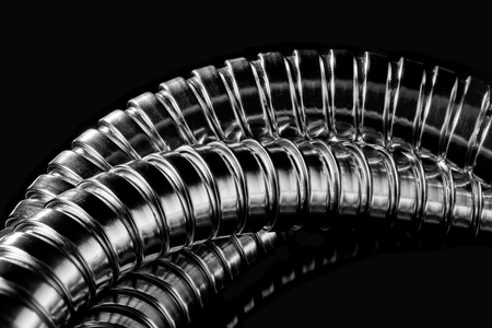 chrome: Modern chrome hose isolatedclose-up