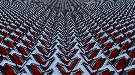 Abstract background 3D render, The metal mesh is woven together.