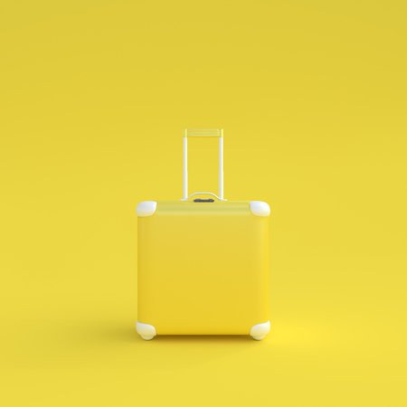 Travel suitcase pastel color isolated on white background,3d render.
