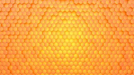 honeycomb texture background. 3D Render.