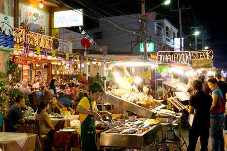 sea food restaurant at hua hin, Thailand Stock Photo - 11045252
