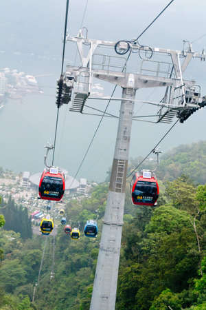 Cable car at Formosa Aboriginal Culture Village theme park ,Taichung,Taiwan