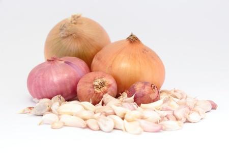radicals: Aromatic herbs onions and garlic