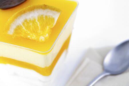 panna: orange panna cotta
