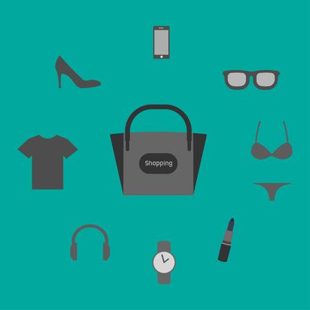 Set of shopping icon illustration