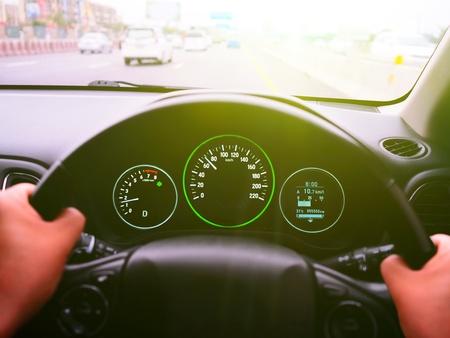 drive a car on Highway drive a car on Highway seed 70 Km/h Zdjęcie Seryjne