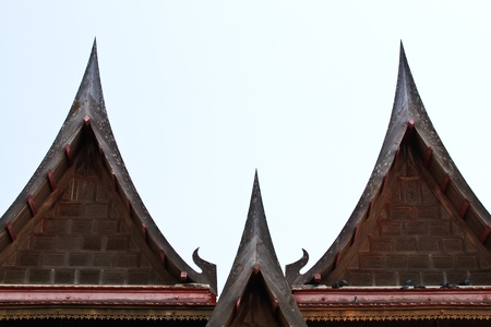 buddhist temple roof: Thai Buddhist temple roof. Monastery roof.