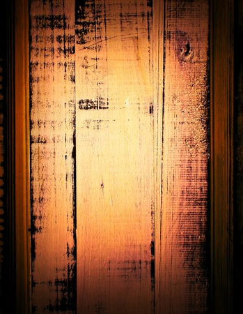 old, grunge wood panels used as background. photo