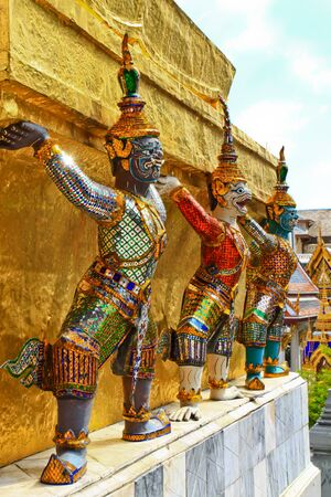 Demon Guardian Wat Phra Kaew Grand Palace Bangkok Stock Photo - 17563576