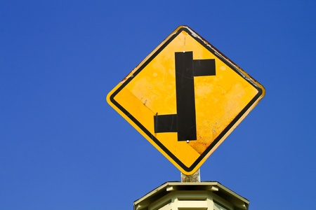 The Direction sign turn left and turn right photo