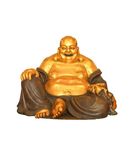 Smiling Buddha - Chinese God of Happiness, Wealth and Lucky Isolated on white Stock Photo - 17831822
