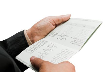 bankkonto: Hand h�lt Bankkonto, Finanz-Konzept. Lizenzfreie Bilder