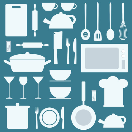 kitchen utensil: Kitchen utensil set vector background.