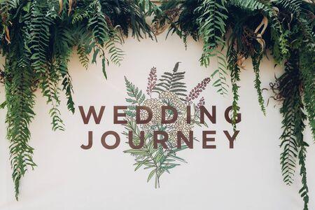 wedding backdrop: Beautiful backdrop flowers for wedding ceremony. Wedding journey.