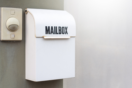 Mailbox with bell buzzer on wall home for postman and communication lifestyle city people image