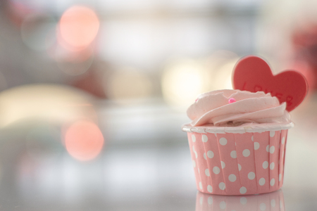 pink cake sweet homemade pastel color on bokeh blurred background for birthday party valentines or wedding bakery image