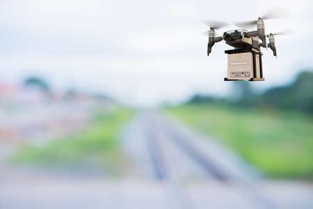 Drone technology engineering device industry flying in industrial logistic export import product home delivery service logistics shipping transport transportation or car auto parts