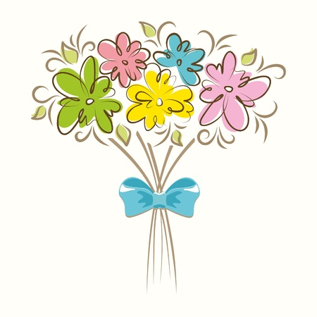Bouquet of beautiful flowers  Floral background