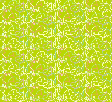 Green background with hearts Vector