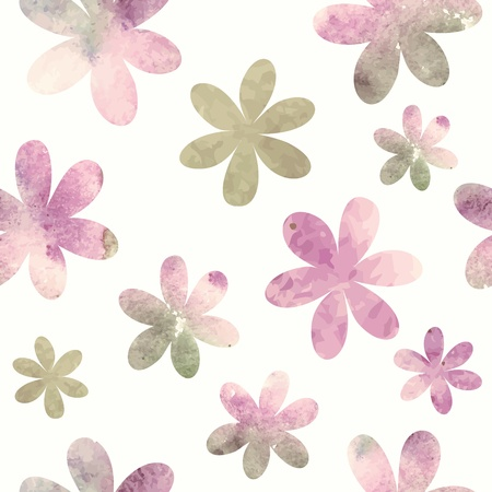 Floral seamless pattern  watercolor flowers Imagens - 19624539