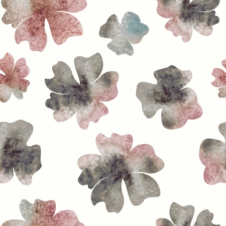 Floral seamless pattern. watercolor flowers. Vector
