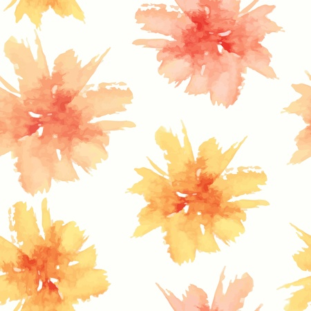 watercolor flower: Floral seamless pattern.  watercolor flowers.