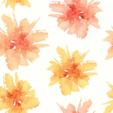 Patrón floral sin fisuras. flores de la acuarela. Ilustración de vector