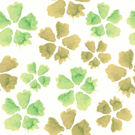 Floral seamless pattern. watercolor flowers. Ilustração