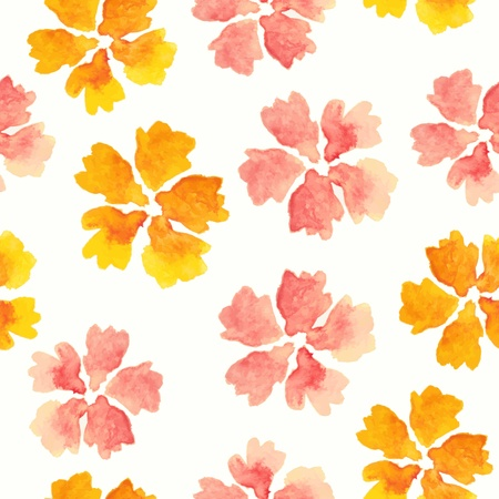 Floral seamless pattern. watercolor flowers. Ilustrace
