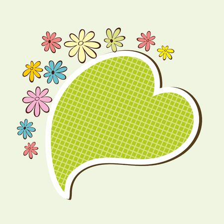 Floral frame  Romantic speech bubble  Vector