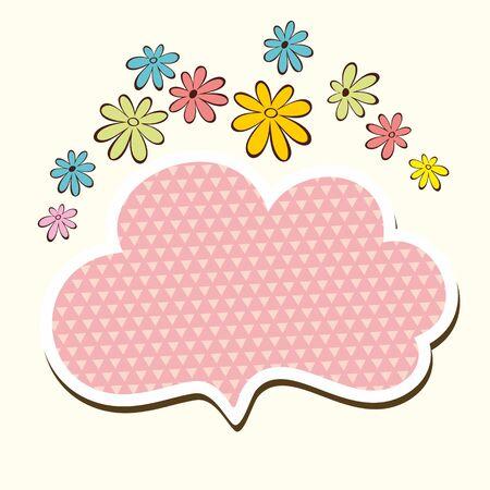 Floral frame  Romantic speech bubble