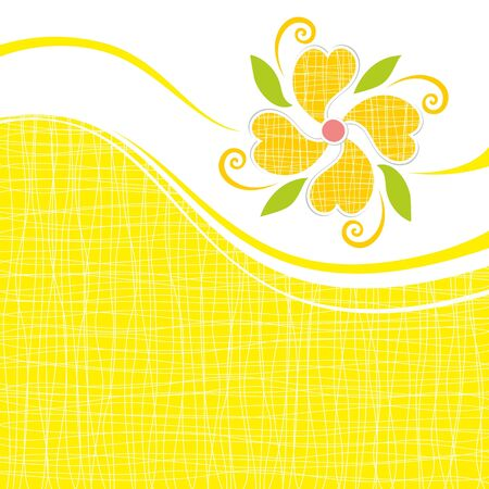 Greeting card with abstract flower  Vector illustration