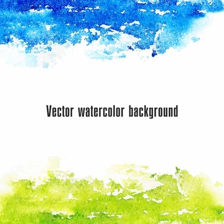 グランジ紙のベクトル水彩画の背景