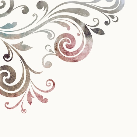 Floral element. Vector watercolor background. 向量圖像