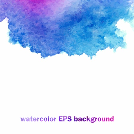 Vector background  Blue watercolor splash