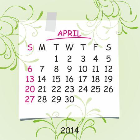 detachable: 2014 calendar design  April