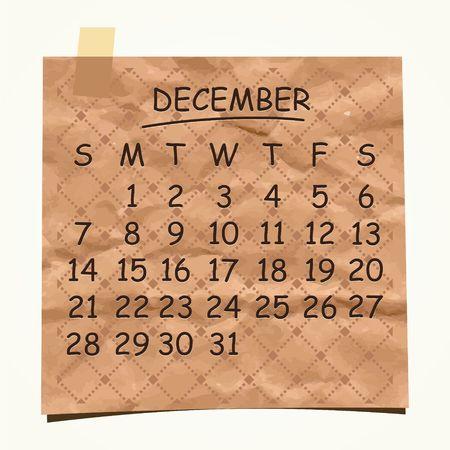 detachable: 2014 calendar design  December