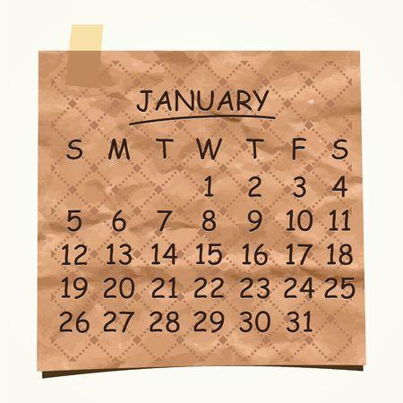 detachable: 2014 calendar design  January