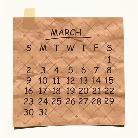 detachable: 2014 calendar design  March
