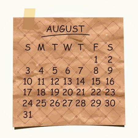 detachable: 2014 calendar design  August