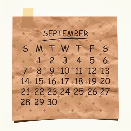 2014 calendar design  September  Stock Vector - 22699738