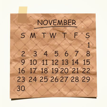 2014 calendar design  November Stock Vector - 22699741