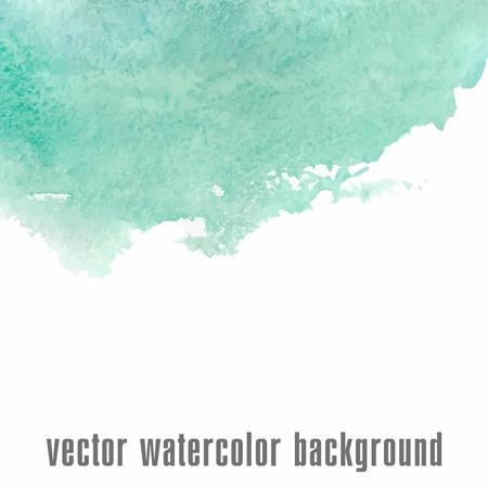 Watercolor background  illustration  Artist card