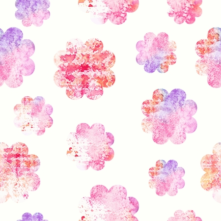 Floral seamless background  Vector watercolor flowers  Pattern for fabric  Illustration