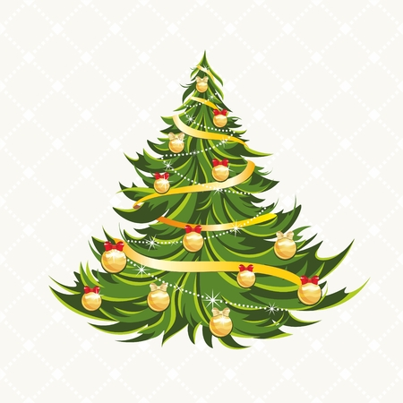 Beautiful Christmas tree isolated